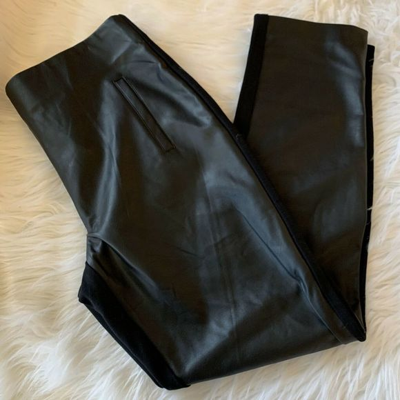 Chico's Pants - Chico's Juliet Pants Faux Leather High Waist NWT